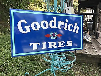 Antique Vintage Old Style Goodrich Tires Sign