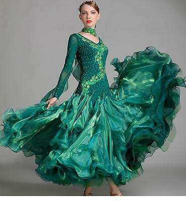 2017 NEW Ballroom Competition Dance Dress Modern Waltz Tango Standard Dress 7001