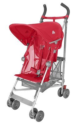Maclaren Volo Lightweight Umbrella Easy Fold Stroller Red WSE01012 - NEW