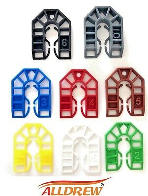 PLASTIC SHIMS / PACKERS /// 1mm - 10mm /// PAILS WEDGES HORSESHOE 55 x 43mm