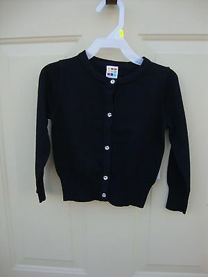 healthtex  Girl's Toddler Black Sweater With Faux Gem Buttons NWT 3T