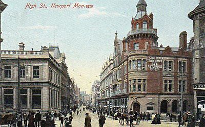 """""postcard High Street,newport,monmouthshire,wales"""""