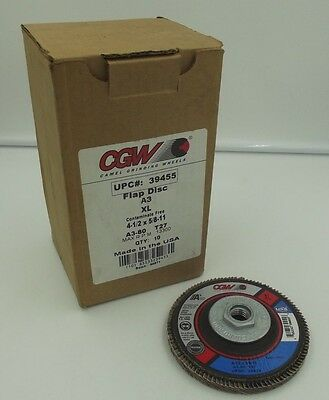 "CGW 39455 Flap Disc A3 XL 4-1/2""x5/8-11"" T27 80grit 100% zirconia (Box of 10)"