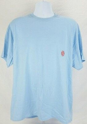 Donut Style T-Shirt, Size XL, Blue Short Sleeve Tee Embroidered Pastry NEW