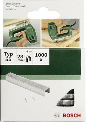 Bosch 2609255828 19mm Type 55 Narrow Crown Staples  Pack of 1000