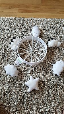 Dunelm Cot Mobile with sheep and stars (no attachment)