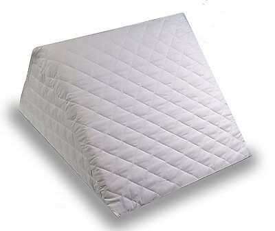 Foam Bed Wedge Back Support Cushion Pillow Reclining Washable Quilted Cover