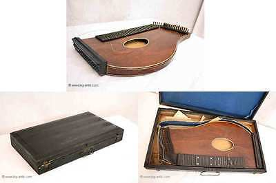 Tolle antike Zitter / Zither / Musikinstrument Holz / Holzkoffer/ Antique Dither