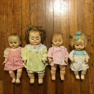 Lot of vintage baby dolls creepy pretty HORSEMAN old pale open close eyeballs