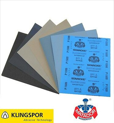 Wet And Dry Sandpaper /// 60 - 7000 Grit /// Flexible Auto - Paper