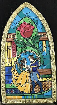 Disney Parks Beauty And The Beast Stained Glass Window, Brand New, Read details