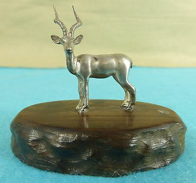 Superb Zimbabwe Sterling Silver Statue Gazelle Animal Patrick Mavros Ca 1960