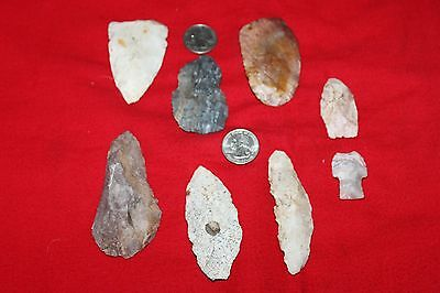 8 Flint Tools  Authentic  Artifacts  From Des Moines Co. Iowa