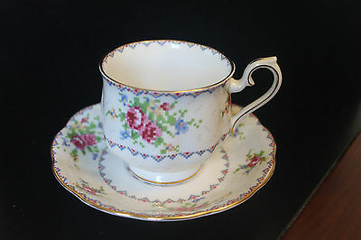 Royal Albert Petit Point China Teacup and Saucer