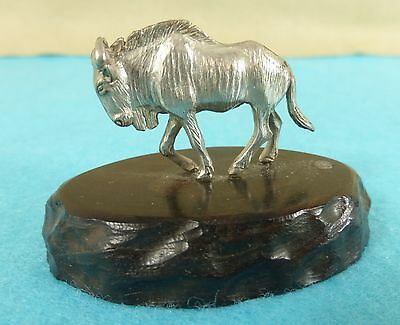 Superb Zimbabwe Sterling Silver Statue Wildebeast Animal Patrick Mavros Ca 1960