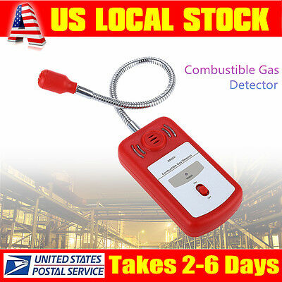 Combustible Natural Coal Gas Leak Detector Sniffer tool with Sound Light Alarm