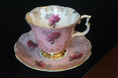 Royal Albert Pink Teacup and Saucer Set Floral Pattern