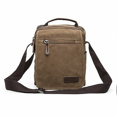 Men's Vintage Canvas Handbag Zipper Messenger Bag Travel Shoulder Bag Tote Bags