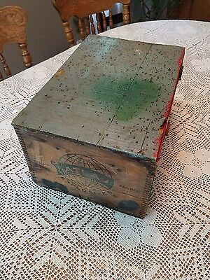 1920s Atlas Powder Co Dynamite Wood Crate Shipping BOX 17.5×11.75×9.25