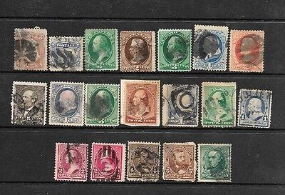 U.S. Collection of 19 Different Banknote Issues 1861-1890 Used C.V. $93.60