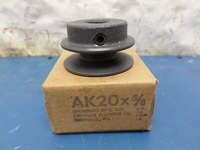 Browning AK20 x 5/8 Pulley Single Groove Sheave Supports A, 4L,3L Belts AK20-5/8