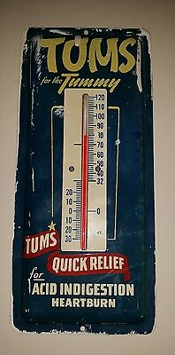 Tums advertising thermometer sign. metal