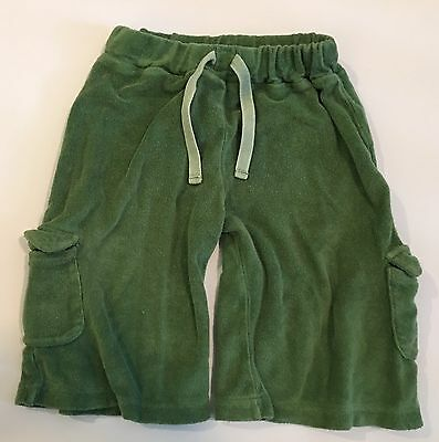 Kate Quinn Organics Boys 2 Green Towel Cargo Shorts