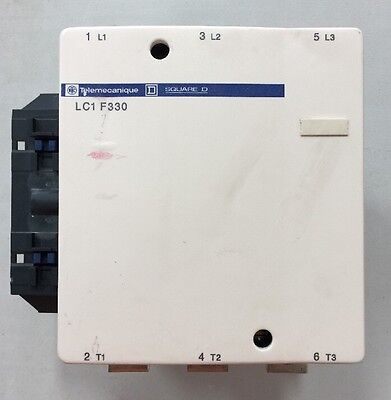 Telemecanique LC1 F330 S121 Motor Contactor 600V 400A 250Hp 3Ph