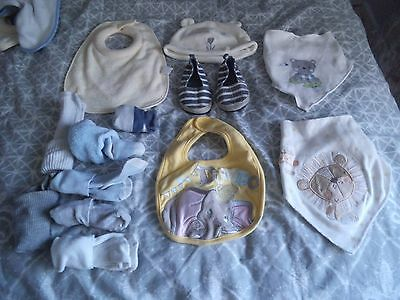 Bundle Baby Boys Bibs, Socks, Hat and H&M Beach Shoes Size 18/19