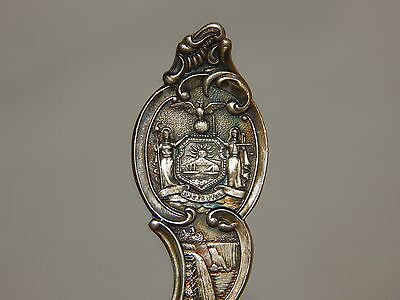 "New York Sterling Silver Souvenir  Spoon."" High Rock Spring Saratoga 1767 ""..."