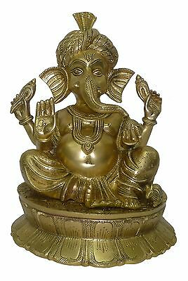 Decorative statue of Brass ganesh handicrafts product by BharatHaat™BH02583