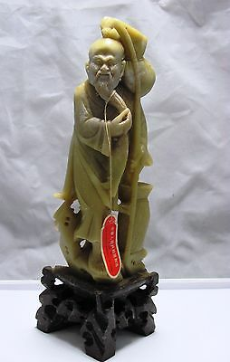 Vintage Jade Figurine Statue People Republic Of China Hand Carved 701-967