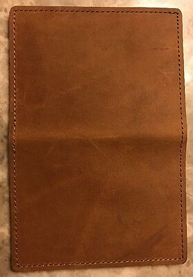 100% Hand Made in USA Leather ID Credit Card Money Holder Wallet Us Only (Brown)