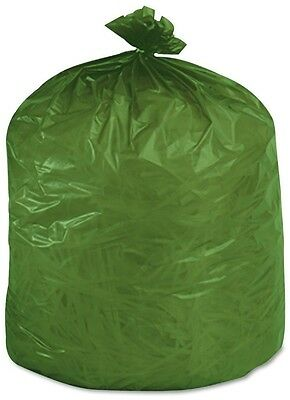 Stout Eco Degradable Plastic Trash Garbage Bag 33gal 1.1mil 33 x 40 Green 40 Box