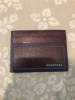 New Men's Burberry Credit Card Case Wallet $215