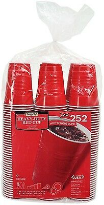 Daily Chef Red Plastic Disposable Red Plastic Cups Easy Clean - 18oz. 252ct