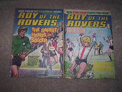 2 x Roy of the Rovers Weekly Comics Dated January 1979