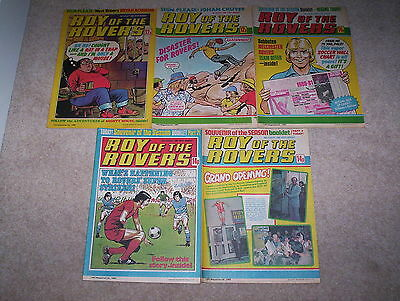 5 x Roy of the Rovers Weekly Comics Dated August 1980