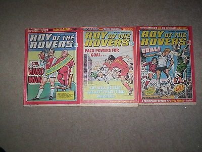 3 x Roy of the Rovers Weekly Comics Dated September-December 1980