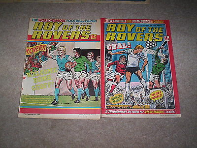 2 x Roy of the Rovers Weekly Comics Dated December 1980