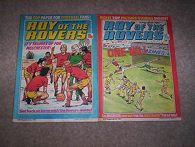 2 x Roy of the Rovers Weekly Comics Dated February and March 1981