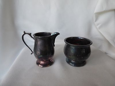Vintage Mappin & Webb English Creamer And Sugar Bowl