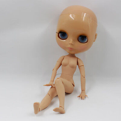 "Factory 12"" Neo Blythe RBL Movable Joints Tanned Skin doll without hair"