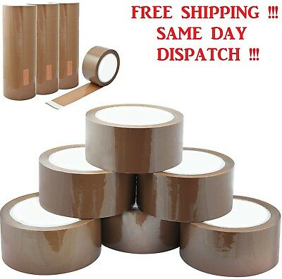 "Brown Buff Parcel Packaging Packing Tape Carton Sealing 2"" 48mm x 50m Sellotape"