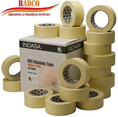 """48mm (2"""") INDASA MTE High Quality Masking Tape Low Bake 50m Protect (5 rolls)"""