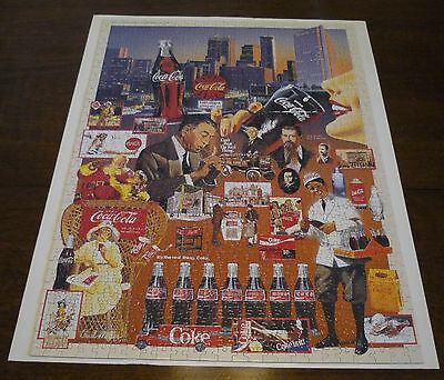 "Coca-Cola Jigsaw Puzzle ""Over 100 Years of Refreshment"" in Square Tin Complete"