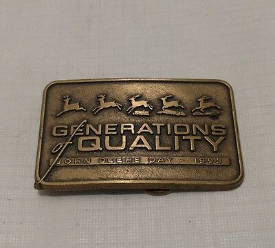 John Deere Generations of Quality Belt Buckle