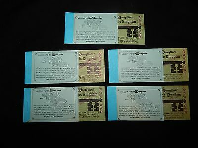 Vintage Lot Of 5 Walt Disney World - Magic Kingdom -  Key Coupons..free Shipping