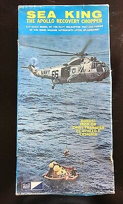 Org Vint. 1/72 Mpc Sea King The Apollo Recovery Helicopter Model Kit