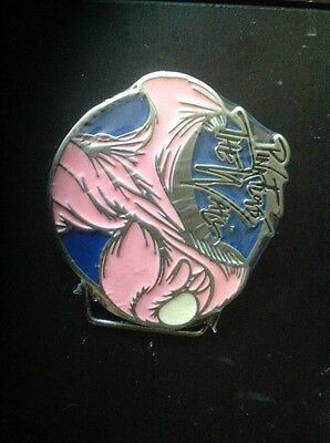 pink floyd the wall 2007 tin blue limited belt buckle (original packaging)
